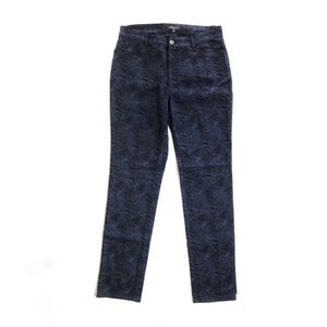 Lafayette 148 Geometric Patterned Skinny Pants